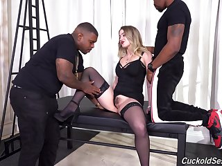 Raw interracial suits the slutty blonde with endless black passion