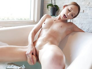 Lily Larimar masturbates in the tub before red-hot fucking in bed