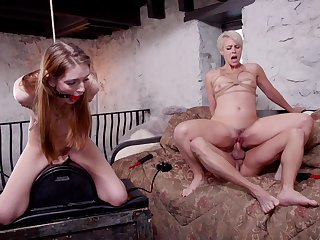 Good anal BDSM with two submissive whores
